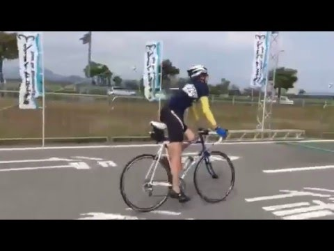 画像:久しぶりのロードバイク