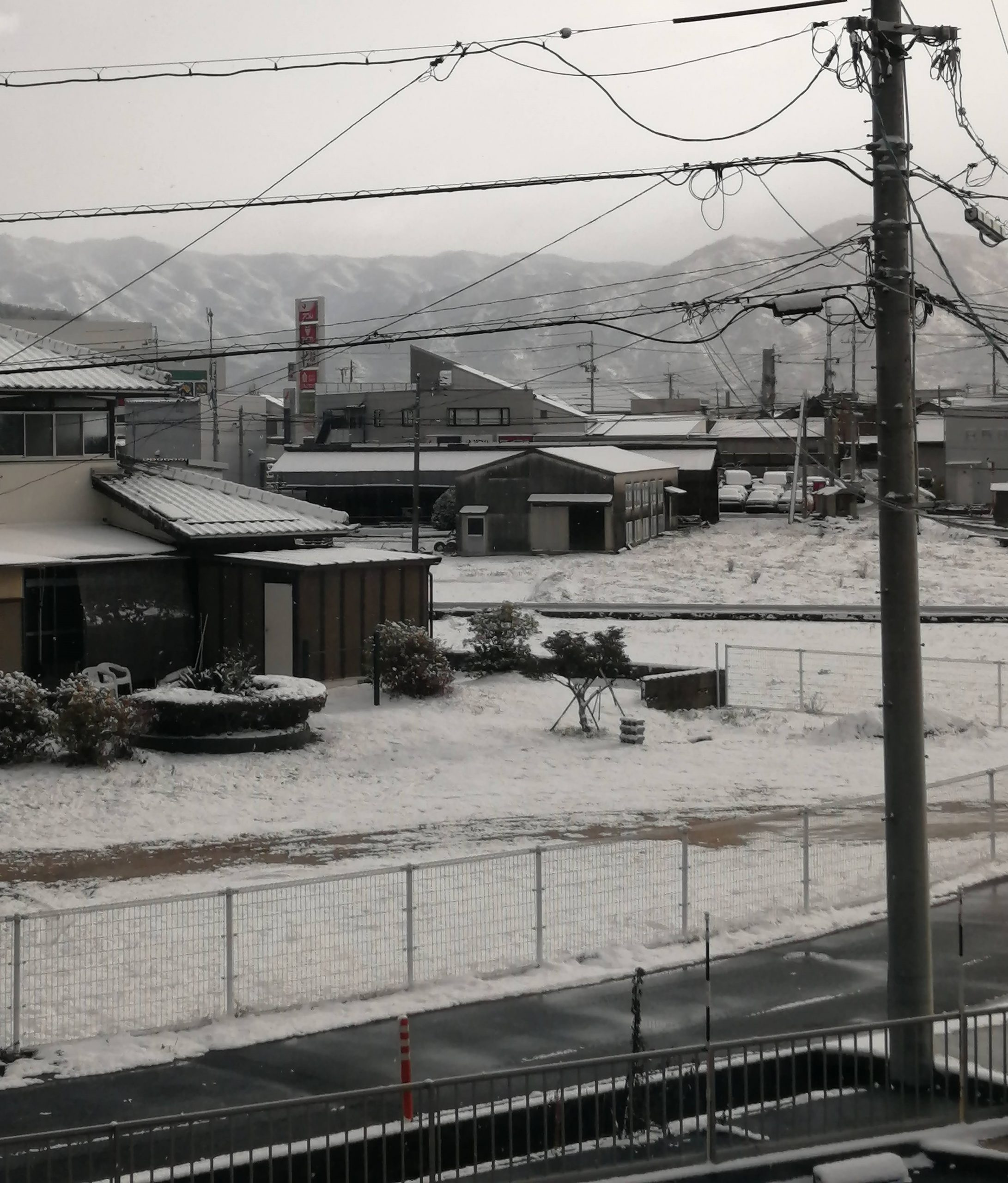 画像:寒い年越しでしたね