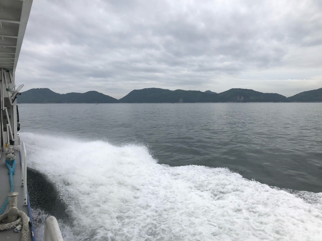 画像:念願の大津島訪問